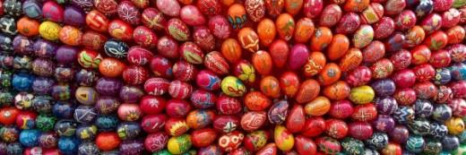 jaja w kolorach