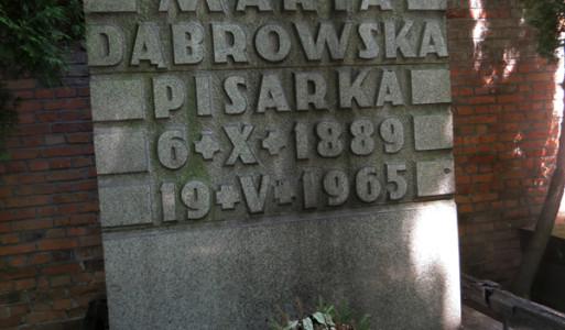 Maria-Dąbrowska-pisarka-powązki-grób
