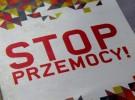 ulotka A4 łamana do DL – STOP PRZEMOCY – Poznań