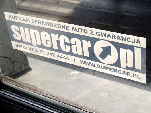 Naklejki supercar.pl folia transparentna wrocław