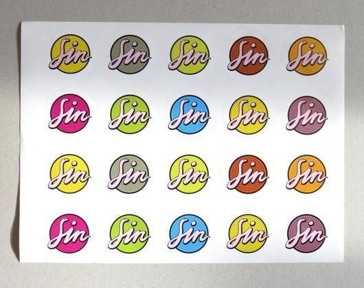 Naklejki sin papier samoprzylepny nacinane warszawa p