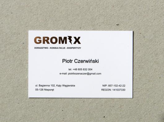 Wizytówki gromix hotstamping druk UV