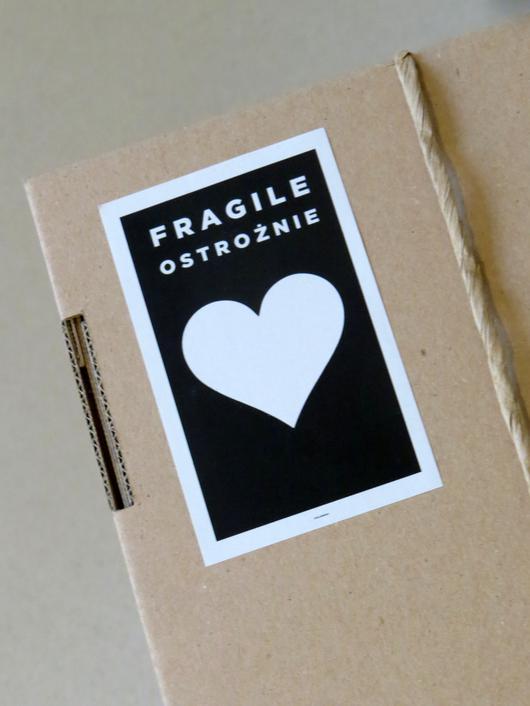 pudelko polewski 100 recycling serce fragile